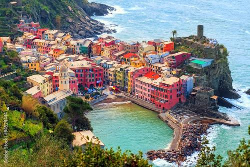 Canvas Prints Liguria Vernazza in Cinque Terre, Italy