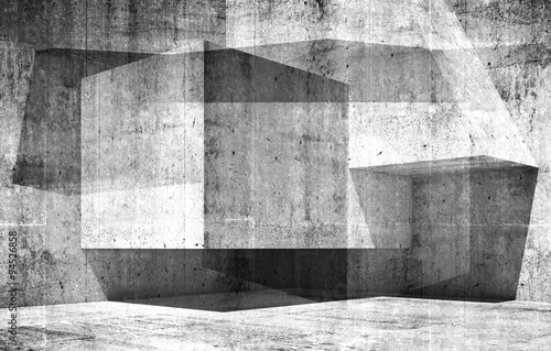 Abstract empty interior background 3d art #94526858