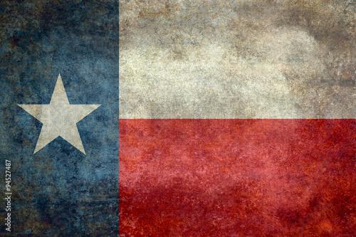 Fotografie, Obraz  Texas state flag vintage retro style