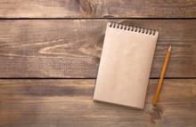 Blank Vintage Paper Notebook W...
