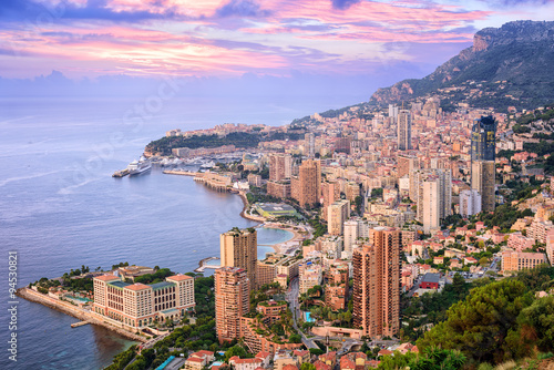 Poster Rose clair / pale Monte Carlo, Monaco