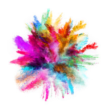 Launched Colorful Powder On Bl...
