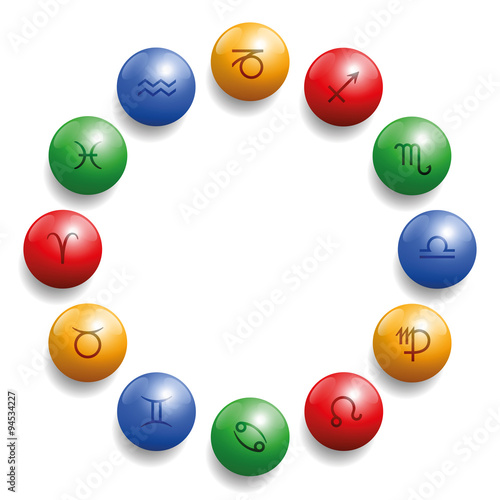 astrology radix with twelve symbols on colored glossy balls in their What Color Is Earth astrology radix with twelve symbols on colored glossy balls in their appropriate element color red