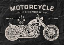Vintage Race Motorcycle Old Sc...