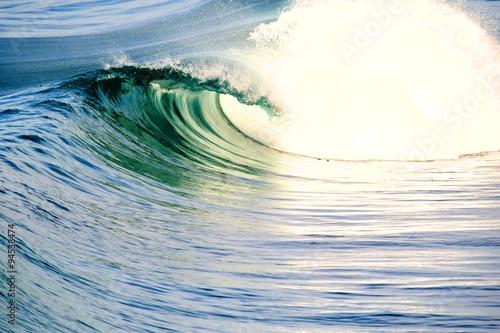 Pacific Ocean Waves rolling in Poster