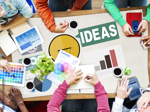 Fototapeta Ideas Creativity Graph Inspiration Thoughts Internet Concept obraz na płótnie