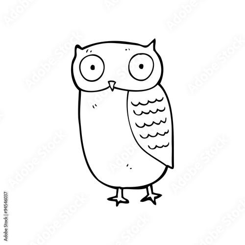 Photo Stands Owls cartoon line drawing cartoon owl