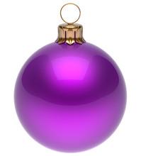Christmas Ball Purple New Year...