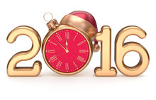 New 2016 Year's Eve Clock Sant...