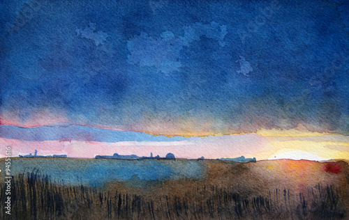 kolorowy-krajobraz-akwarela