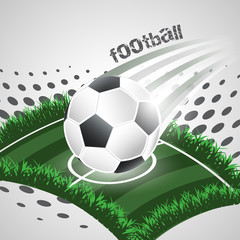 Fototapeta Sport Football abstract vector background with ball and playground.