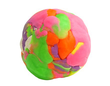 Colorful Plasticine Ball On Wh...