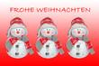Frohe Weihnachten, Schneemann