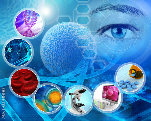 medical science and scientific research abstract backdrop