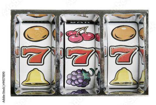 Tela  Einarmiger Bandit - Glücksspielautomat - Gewinnziffern 777