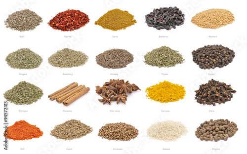 Collection of spices Canvas Print