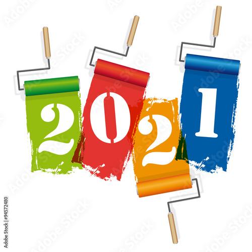 Poster  2021-Rouleaux de peinture