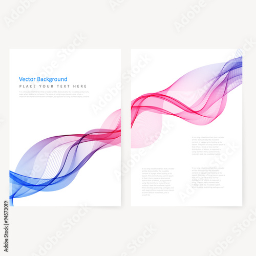 Staande foto Abstract wave Abstract template color flyer