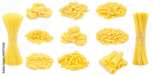Fotografie, Obraz  Pasta, different varieties, collection