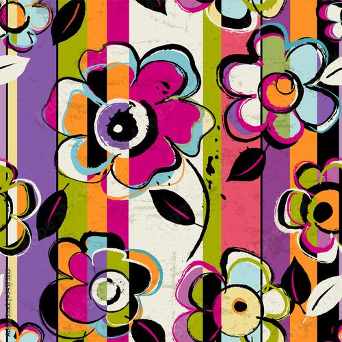 seamless flower pattern, vector