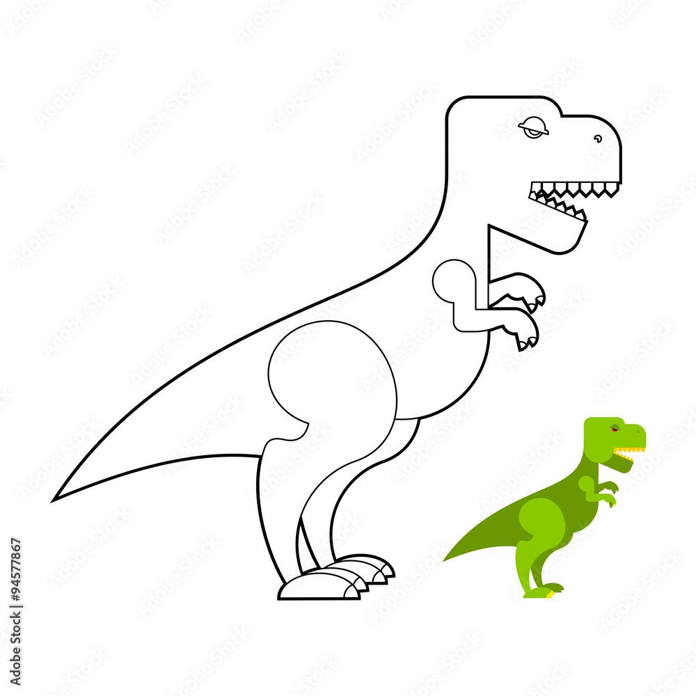 Fotografiet Poster T Rex Dinosaur Coloring Book Scary Big