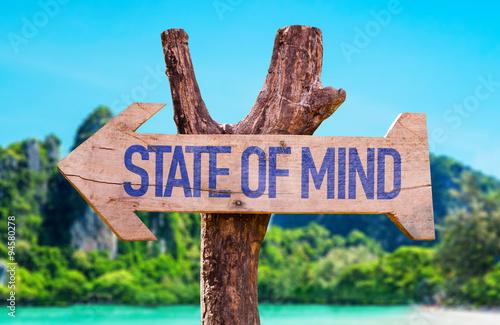 Fotografie, Obraz  State of Mind arrow with beach background