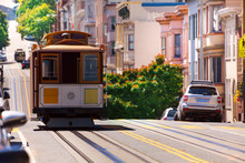 View Of Hyde Street And San Francisco Tram
