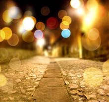 Fondo Abstracto Calle En La No...