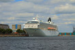Cruise liner moored to mooring. Copenhagen, Denmark