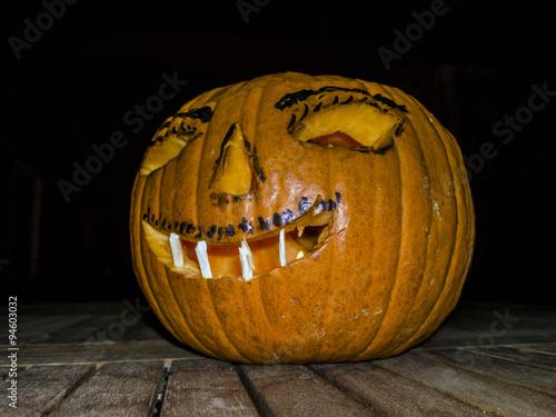 Immagine Zucca Di Halloween 94.Zucca Di Halloween Terrificante Buy This Stock Photo And Explore