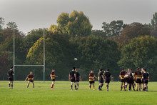 Rugby Match In The Park