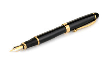 Fountain Writing Pen Isolated ...