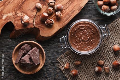 Valokuva  Hazelnut spread with nuts pieces