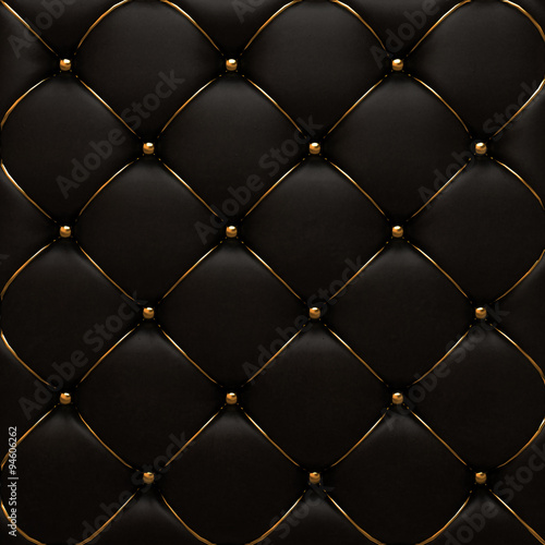 The gold leather texture of the quilted skin Wallpaper Mural