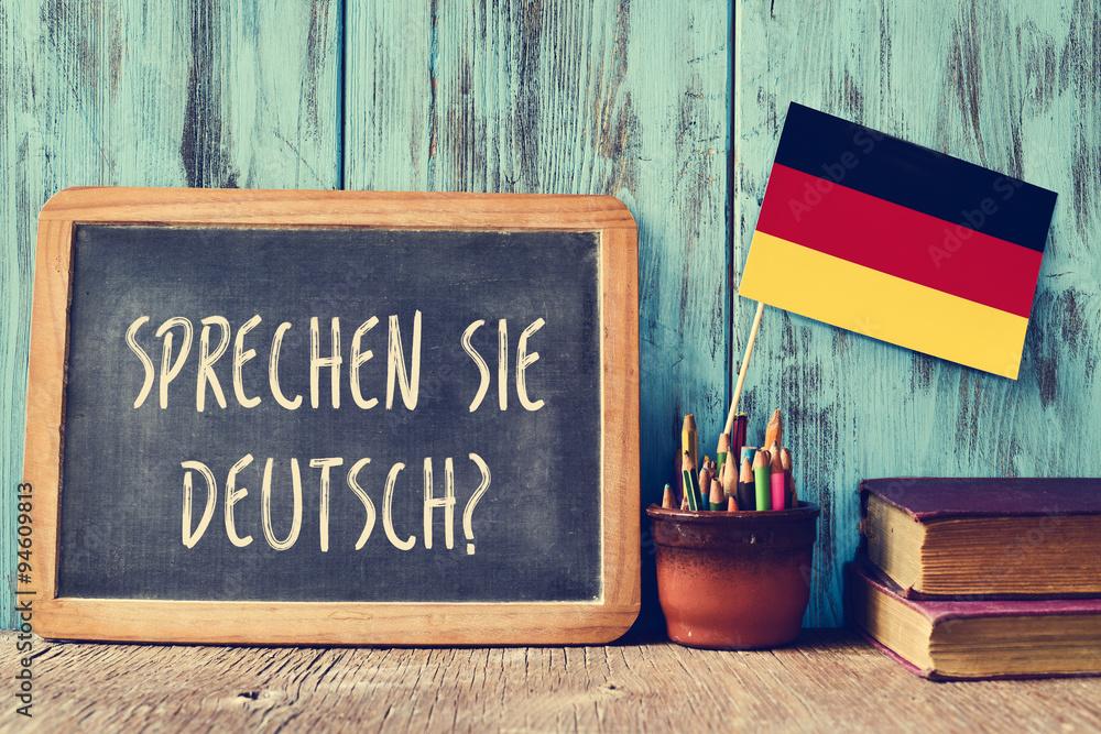 Fototapeta question sprechen sie deutsch? do you speak german?