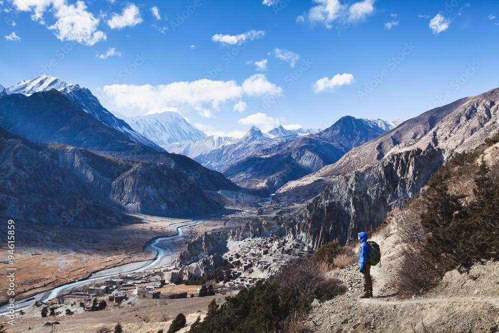 Fototapety, obrazy: trekking in Nepal, Annapurna circuit view