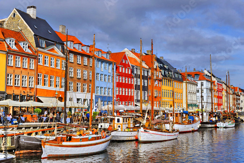 Photo  Denmark Copenhagen Nyhavn