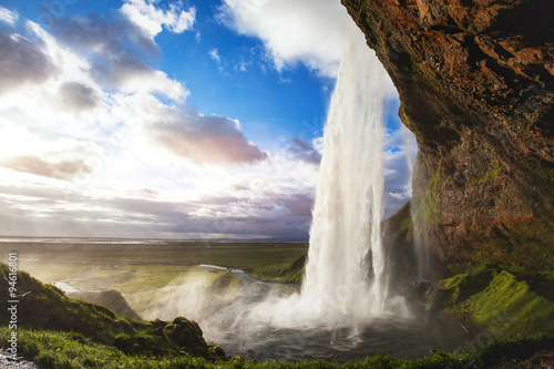 beautiful amazing landscape from Iceland, Seljandafoss waterfall #94616801
