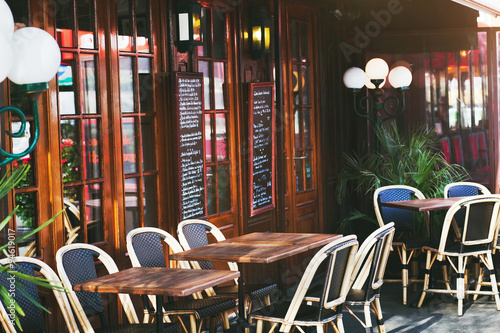Zdjęcie XXL restauracja w Paryżu, Francja
