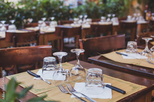 Photo sur Aluminium Restaurant restaurant in Italy