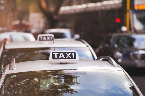 Fotografie, Obraz  Taxi