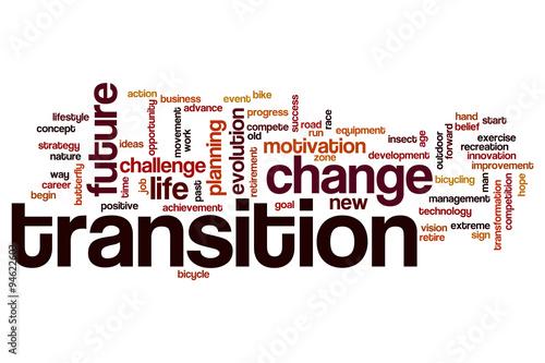 Fotografía Transition word cloud concept