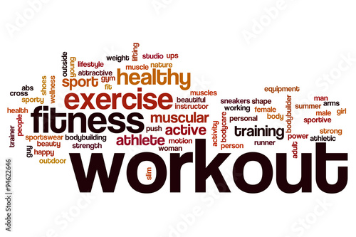 Workout word cloud concept #94622646