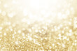 canvas print picture - Lights on gold with star bokeh background.