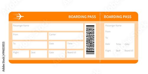 Cuadros en Lienzo  yellow boarding pass