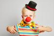 canvas print picture - Kind als Clown verkleidet zu Karneval