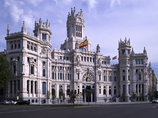 View of the building where the town hall city of Madrid (Spain) is located