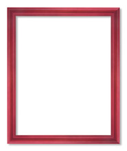 Red Picture Frame Isolated On ...
