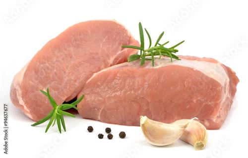 Staande foto Vlees mięso schab