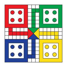 Vector Ludo Game Board